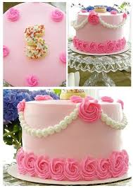 Pretty Flower Rosette Cake Cakecookie Decorating In 2019
