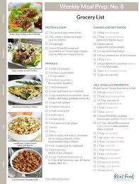 Free Weekly Meal Planner With Grocery List 12 Meal Prep Menus Grocery Lists The Real Food Dietitians