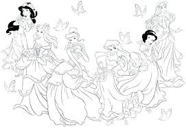 Coloring Pages Online Disney Princess Princess Coloring Pages Cute