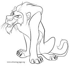 Heres A Beautiful Coloring Page Of Scar Mufasas Envious Younger