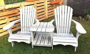 furniture made of pallets. Pallets Wooden Adirondack Garden Seats W. Furniture Made Of A