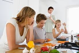 Family Kitchen Similiar Family Preparing Healthy Food Keywords