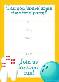 Bowling Invitation Inspiration Free Birthday Party Invitation Templates Birthday Party Invitations
