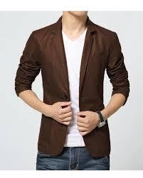 brown leather dress coat for men