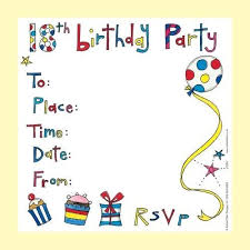 multicolor birthday invitation card rs