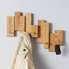 Personalised Coat Rack Oak Blocks Coat Rack MijMoj 30