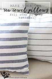Elegant Use Kitchen Tea Towels To Make Your Own Pillows! Full Tutorial By The Wood  Grain