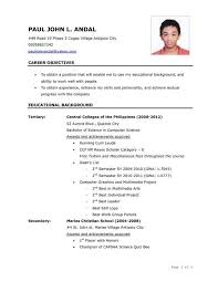 ojt resume. Resume For Ojt Students Sample