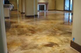 staining concrete floors indoors