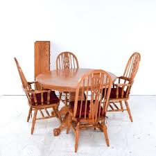 room chairs oak finish wood improbable windsor country style dining set ine