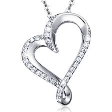 infinity heart necklace. 925 sterling silver infinity heart necklace billie bijoux endlessness love platinum plated diamond pendant women