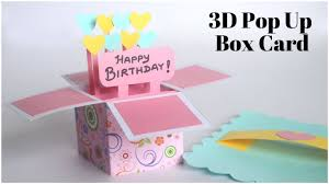 Card Bday 3d Pop Up Card Birthday Card Diy Explosion Box For Scrapbook Handmade Greetings Card