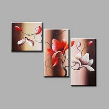 flowers magnolia brown red floral oil painting canvas wall art with stretched frame ready to hang on magnolia canvas wall art with flowers magnolia brown red floral oil painting canvas wall art with