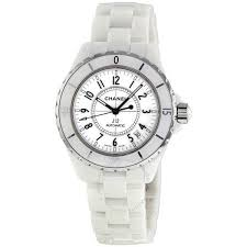 chanel j12. chanel j12 white ceramic automatic midsize watch h0970