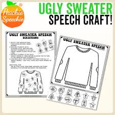 Speech Sample Inspiration Ugly Sweater Speech Craft Free Sample RBlends By Peachie Speechie