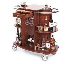 Lakeside 70260 Wine/Liquor Cart-Bordeaux