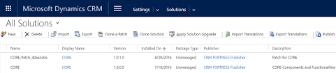 Deployment Patch Chart 2016 Solution Enhancements In Dynamics Crm 2016