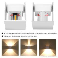 best quality led 7w 12w outdoor wall light up down ip65 waterproof white black modern sconce wall fixtures lamp 220v 110v exterior home lighting at