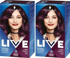 Purple Pack Hair Color Chart Schwarzkopf Live Color 46 Cyber Purple Permanent Purple Hair Dye Pack Of 2
