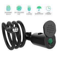 Akıllı parmak izi kapı kilidi anti hırsızlık bisiklet kilidi bisiklet/motosiklet  IP66 su geçirmez anahtarsız USB şarj edilebilir güvenlik|Electric Lock