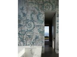 Carta Da Parati Nel Bagno : Carta da parati con motivi floreali per bagno dÉcuper by wall amp decò