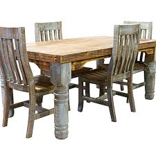 rustic dining table and chairs photo 1
