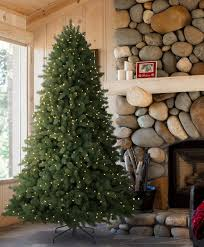 9ft PreLit Artificial Christmas Tree Flocked Narrow Pine  Clear Artificial Christmas Tree 9ft
