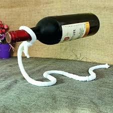 magic rope wine bottle holder floating illusion rack glass for hot tub