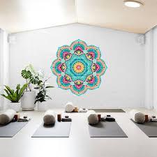 large wall mandala mural for yoga