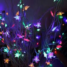 Dùng pin) Dây đèn led trang trí hình ngôi sao nhiều màu 3 mét 20 đèn ngôi  sao nhiều màu sắc giảm chỉ còn 12,000 đ