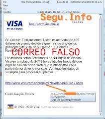 – Informática De Dólares Premio Falso Visa Seguridad A 100 Argentina Phishing