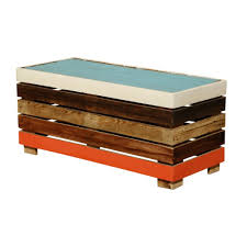 sierra living concepts modern rustic multi color mango wood box style coffee table