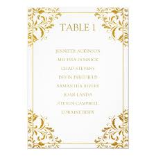 Elegant Wedding Seating Chart List Card Gold Foil Invitation