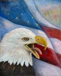 Screaming Eagle Painting by Merle Blair
