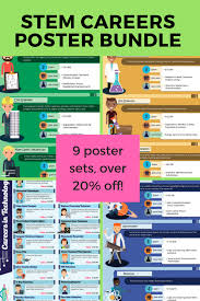 What Are Stem Careers Stem Career Posters Bundle 11 Poster Sets With Interactive