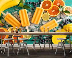 Papel De Parede Sweets Ijs Oranje Fruit Voedsel Foto Behang
