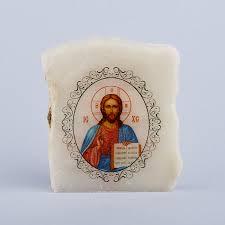 Изображение <b>селенит</b> Россия Иисус Христос с молитвой 5,<b>5-6 см</b>