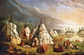 native american encampment on lake huron paul kane