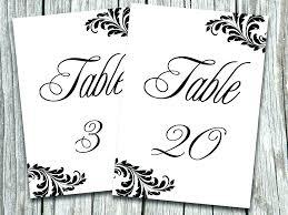 Rustic Wedding Table Numbers Printable Number Template Guest