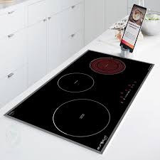 Bếp điện từ âm 3 lò Eurosun EU-TE882G Tặng hút mùi nồi từ   Bếp điện từ
