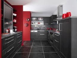 Elegant Decoration Cuisine Mur Rouge
