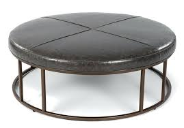 circular leather ottoman amazing brown leather round ottoman also round leather coffee table ottoman and brown