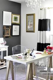 black and white home office. this black white u0026 gold home office is filled with diy projects and inspiration that p