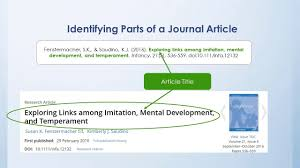 Identifying The Parts Of A Journal Citation