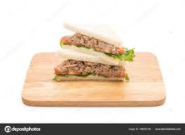 Tuna Sandwich On White Stock Photo Topntp 166930198