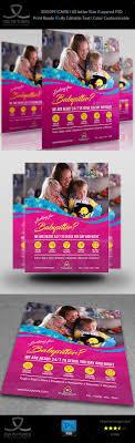 best images about flyer design restaurant babysitter flyer template