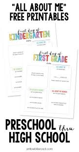 Getting to Know Your Students   Lessons   Icebreakers  K 12 moreover Preschool Graduation Pack   Everything  The o'jays and End of further  in addition  furthermore  further Family Printables  Lessons  and References for Teachers  K 12 together with Preschool Lesson Plans  Preschool Themes   More for Preschool likewise  likewise Best 25  All about me ideas on Pinterest   All about me activities additionally  moreover Beginning of the year FREEBIE    Top Teachers Smorgasboard. on back to school printouts from the teacher s guide preschool about me worksheet