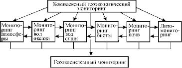 Геоэкологический мониторинг Реферат страница  Структурная схема комплексного геоэкологического мониторинга