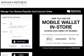 Banana Republic Credit Card Login Synchrony Manage Banana Republic