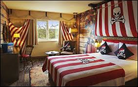 ship captain wall mural at magic murals pirate trere cove red and black beddings at baby zone bedding